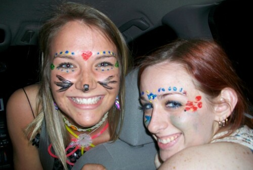 Aimee with friend Allison